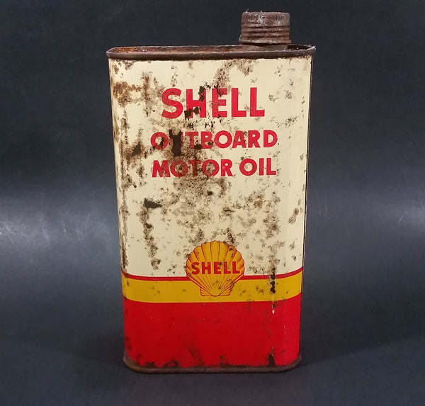 Vintage Shell Outboard Motor Oil Can 1 Imperial Quart - Boating - Boats - Fishing - Treasure Valley Antiques & Collectibles