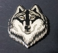 Enameled Wolf Head Fridge Magnet Collectible - Treasure Valley Antiques & Collectibles