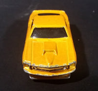 2007 Hot Wheels 1969 Ford Mustang Yellow No. 4/36 Die Cast Toy Muscle Car Vehicle - Treasure Valley Antiques & Collectibles