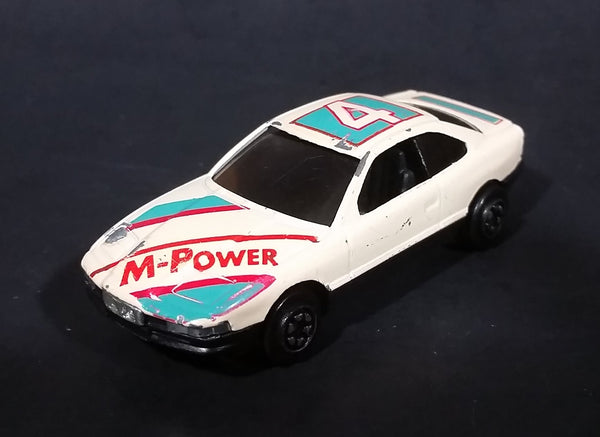 1980s Yatming BMW 850i Tan White Red M-Power Blue #4 Sport No. 804 Die Cast Toy Car