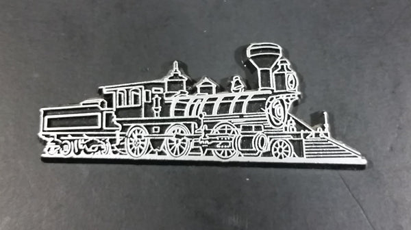 Collectible Locomotive Train Engine Black And White Railway Railroad Fridge Magnet - Treasure Valley Antiques & Collectibles