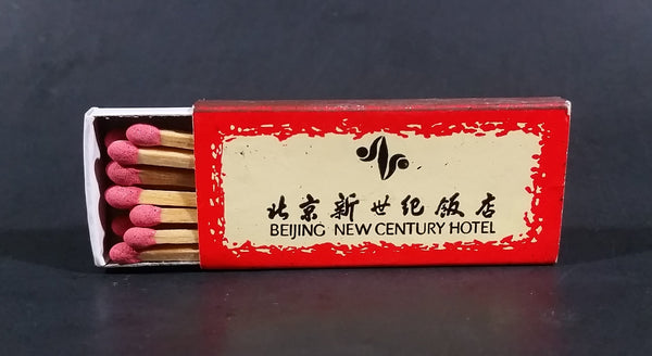 Beijing New Century Hotel Souvenir Promo Wooden Matches Box - Ana Hotels International - Nearly Full - Treasure Valley Antiques & Collectibles