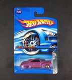 2005 Hot Wheels Red Lines Purple Tail Dragger Die Cast Toy Car #100 5/5 G6827 New w/ Blue Card - Treasure Valley Antiques & Collectibles