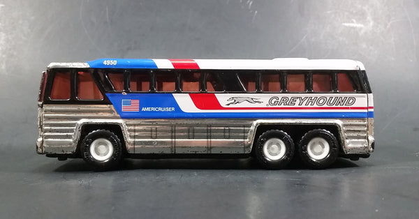 1979 Buddy L 4950 Americruiser Greyhound Bus Pressed Steel Toy Car Vehicle - Missing 2 Tires - Treasure Valley Antiques & Collectibles