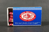 Legal Sea Foods Restaurant Oyster Bar Souvenir Promo Wooden Matches Box - Nearly Full - Treasure Valley Antiques & Collectibles