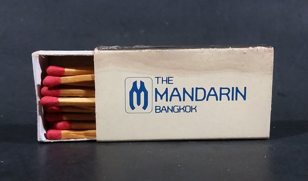 The Mandarin Bangkok, Thailand Souvenir Promo Wooden Matches Box - Half Full - Treasure Valley Antiques & Collectibles
