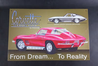 Vintage Style Corvette Sting Ray by Chevrolet From Dream To Reality Tin Sign - Treasure Valley Antiques & Collectibles