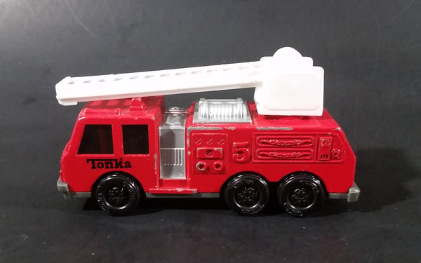 1992 Tonka Red Fire Ladder and Hook Truck DieCast Toy Vehicle - McDonald's Happy Meal - Treasure Valley Antiques & Collectibles