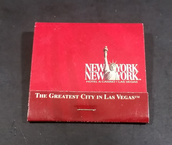 New York, New York Hotel & Casino Las Vegas, Nevada Red Souvenir Match Pack - Full - Treasure Valley Antiques & Collectibles