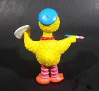 "Vintage Sesame Street Big Bird as Painter Artist Applause PVC Figure 3 3/4"" - Treasure Valley Antiques & Collectibles"
