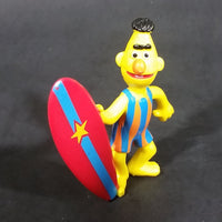"1980s Applause Muppets Sesame Street ""Bert with a Surfboard"" PVC Figurine - Treasure Valley Antiques & Collectibles"