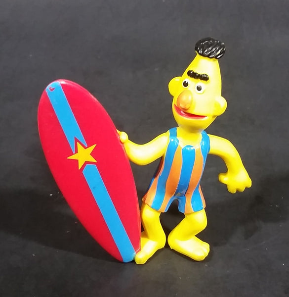 "1980s Applause Muppets Sesame Street ""Bert with a Surfboard"" PVC Figurine"