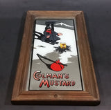 "Rare Colman's ""To Klondike"" Mustard Wood Framed Advertising Mirror - Treasure Valley Antiques & Collectibles"