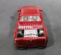 2008 Hot Wheels Nissan Titan Metalflake Burgundy Red Die Cast Toy Lowrider Truck Vehicle - Treasure Valley Antiques & Collectibles