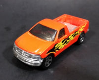 1996 Hot Wheels 1997 Ford F-150 Orange w/ Flames Die Cast Toy Pickup Truck Vehicle