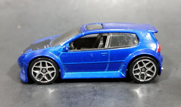 2007 Hot Wheels VW Volkwagen Golf GTI Metalflake Blue Die Cast Toy Car Vehicle - Treasure Valley Antiques & Collectibles