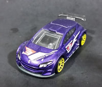2012 Hot Wheels Renault Megane Trophy Purple Die Cast Toy Car Vehicle - Treasure Valley Antiques & Collectibles
