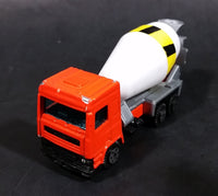Rare 1980s Yatming Fastwheels Orange Cement Mixing Truck No. 2300 Die Cast Toy Truck Vehicle