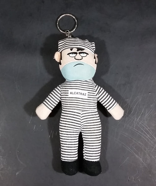 "Collectible Souvenir Alcatraz Island Prison Prisoner 6 3/4"" Soft Plush Key Chain Memorabilia - Treasure Valley Antiques & Collectibles"