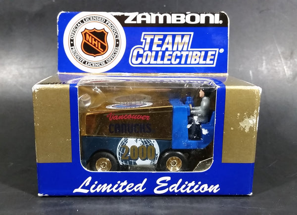 White Rose Collectibles Vancouver Canucks NHL Zamboni 50 Year Anniversary Limited Edition Die Cast - Treasure Valley Antiques & Collectibles