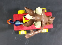 1989 Warner Bros. Looney Tunes Wile E. Coyote & Roadrunner Train Handcar Toy Riders - Treasure Valley Antiques & Collectibles