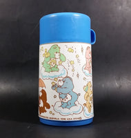 Vintage 1985 Care Bears Aladdin Blue Plastic Lunch Box and Thermos - American Greetings Corp - Treasure Valley Antiques & Collectibles
