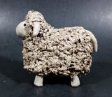 Vintage Red Clay Detailed Grey Sheep Figurine - Treasure Valley Antiques & Collectibles