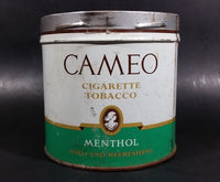 Vintage Rare Find Cameo Menthol Cigarette Tobacco Tin no Lid - Treasure Valley Antiques & Collectibles