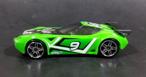 2009 Hot Wheels Track Stars Nerve Hammer Bright Green #9 Die Cast Toy Car Vehicle