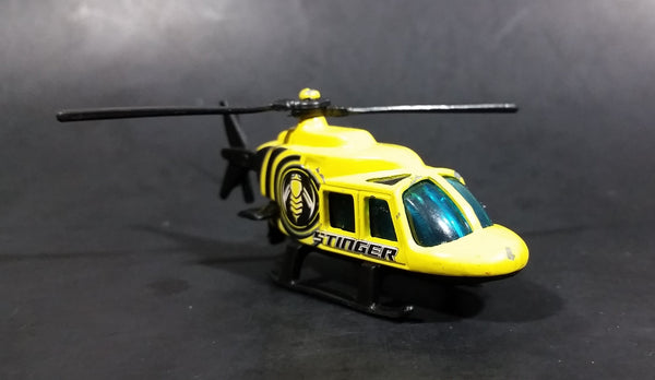 2006 Hot Wheels Aerial Attack 1989 Propper Chopper Stinger Yellow Die Cast Toy Helicopter - Treasure Valley Antiques & Collectibles