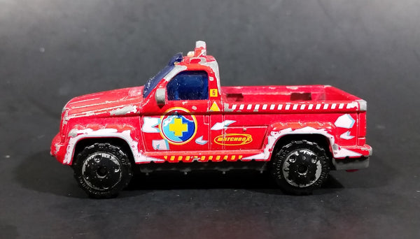 2006 Matchbox Polar Rescue Troop Carrier Red Die Cast Toy Truck Vehicle - Treasure Valley Antiques & Collectibles