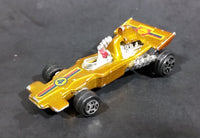 Rare 1980s Yatming McLaren Ford Shell Fuel Gold #4 No. 1304 Die Cast Toy Race Car Vehicle