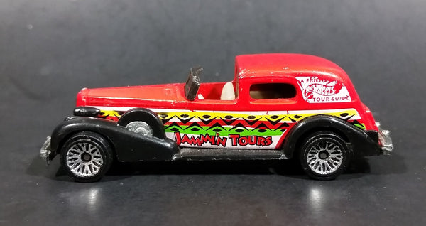 1998 Hot Wheels Tropicool '35 Classic Caddy Jammin' Tours Red Die Cast Toy Car Vehicle - Treasure Valley Antiques & Collectibles