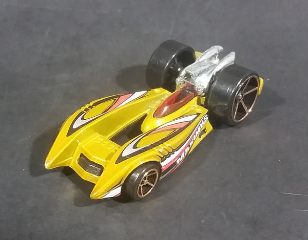 2009 Hot Wheels Duel Fueler Yellow Metalflake Mustard Die Cast Toy Car Vehicle - Treasure Valley Antiques & Collectibles