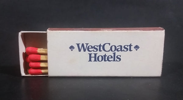 West Coast Hotels Wooden Matches Box Pack Travel Souvenir Promotional Collectible - Half full - Treasure Valley Antiques & Collectibles