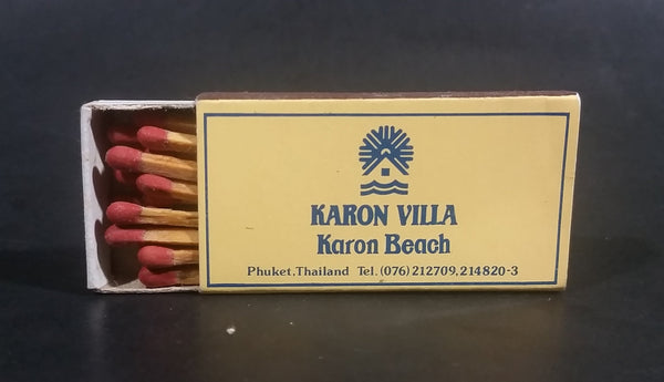 Vintage Karon Villa Karon Beach Phuket Thailand Full Wooden Matches Box Pack - Treasure Valley Antiques & Collectibles