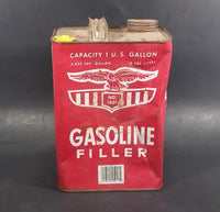 Vintage Eagle No. 1001 Gasoline Filler 1 U.S. Gallon Empty Can (No Spout) - Wellsburg, W. VA - Treasure Valley Antiques & Collectibles