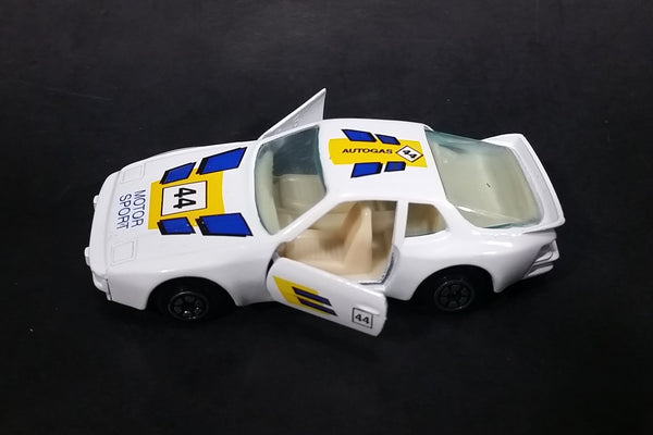 1980s Yatming Porsche 944 Turbo Motor Sport 44 White No. 1089 Die Cast Toy Car Vehicle
