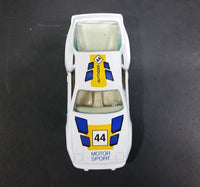 1980s Yatming Porsche 944 Turbo Motor Sport 44 White No. 1089 Die Cast Toy Car Vehicle - Treasure Valley Antiques & Collectibles