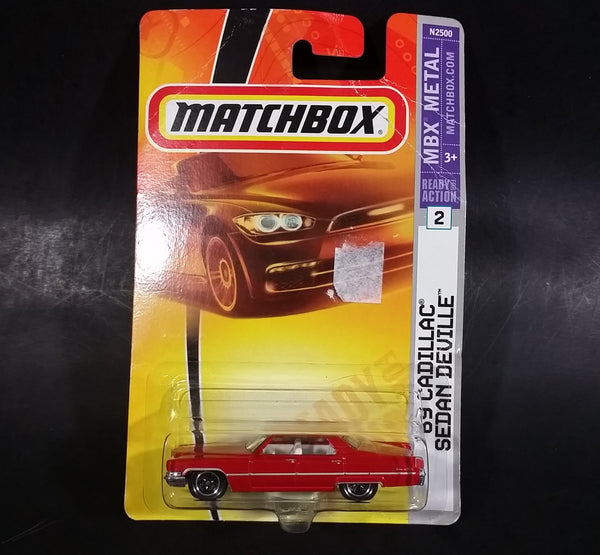 2008 Matchbox Heritage Classics 1969 Cadillac Sedan Deville Red Die Cast Toy Car New In Package - Treasure Valley Antiques & Collectibles