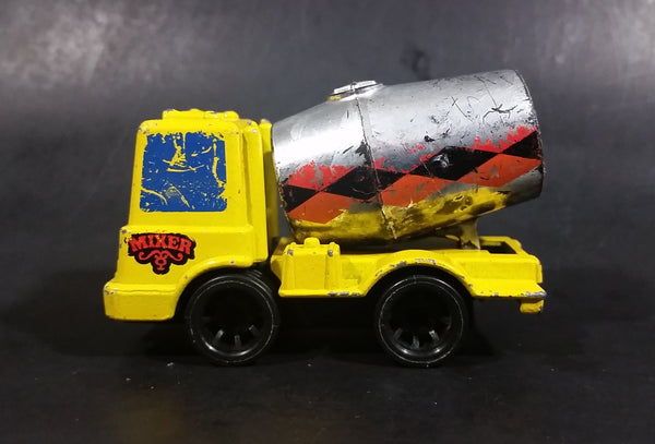 Rare 1979 Mattel First Wheels Cement Mixer Truck Yellow Die Cast Toy Vehicle - Hong Kong - Preschool