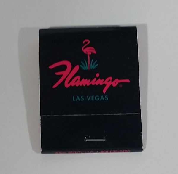 The Flamingo Hotel & Casino Las Vegas, Nevada Black Souvenir Promotional Match Pack - Full - Treasure Valley Antiques & Collectibles