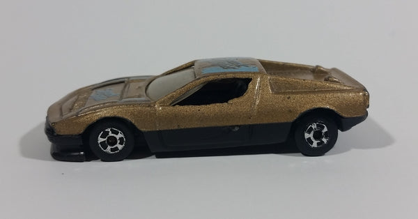 High Speed Corgi Spark Light Gold w/ Light Blue & Black Die Cast Toy Sports Car Vehicle No. 743 - Made in China - Treasure Valley Antiques & Collectibles