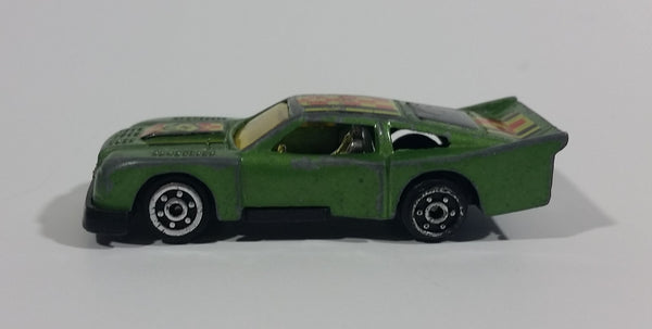 1980s Marz Karz Green #4 Ford Mustang Cobra II S8002 Die Cast Toy Race Car - Treasure Valley Antiques & Collectibles