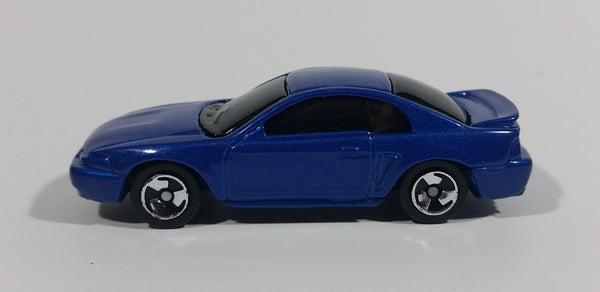 Maisto 1999 Ford Mustang Blue Die Cast Toy Car Vehicle 1/64 Scale - Treasure Valley Antiques & Collectibles
