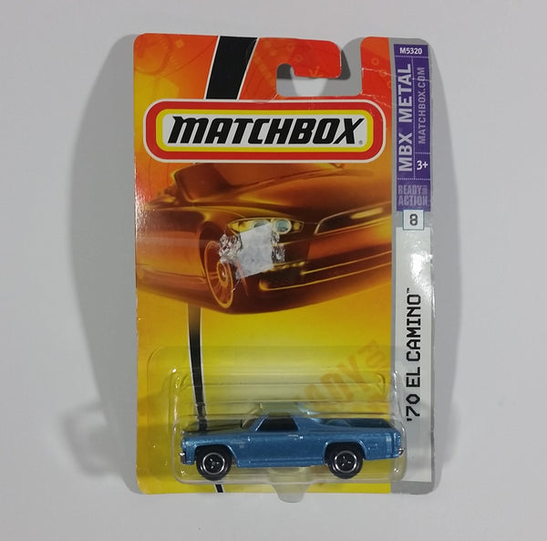 2008 Matchbox Heritage Classics 1970 Chevrolet El Camino SS Metalflake Light Blue Die Cast Toy Car 8/8 M5320-0719 New In Package - Treasure Valley Antiques & Collectibles