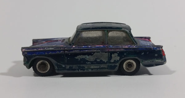 Vintage 1960s Dinky Toys Triumph Herald Blue No. 189 Die Cast Toy Car Vehicle - Treasure Valley Antiques & Collectibles