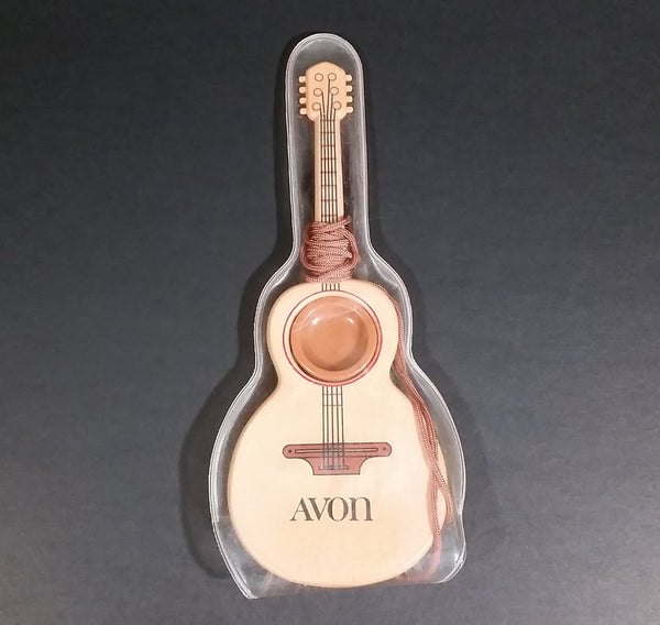 Vintage Avon Acoustic Guitar Shaped Comb & Mirror Comb Brown Tan Plastic