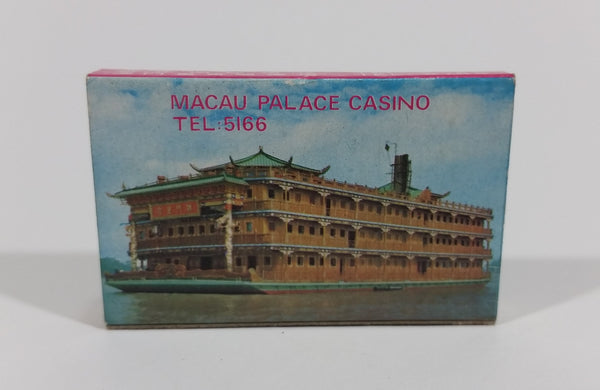 Lisboa Palace Casino Macau Souvenir Promotional Wooden Matches Pack Travel Collectible - Treasure Valley Antiques & Collectibles