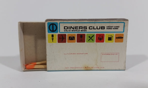 Vintage Diners Club Credit Card Hong Kong Souvenir Promotional Wooden Matches Pack Travel Collectible - Treasure Valley Antiques & Collectibles